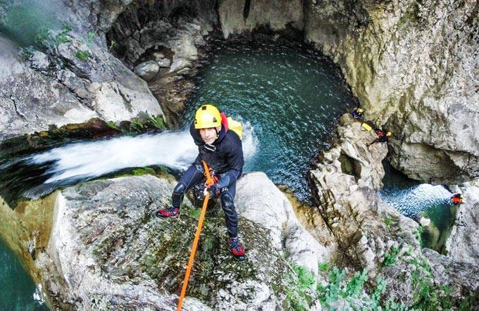Canyoning auf der Morges