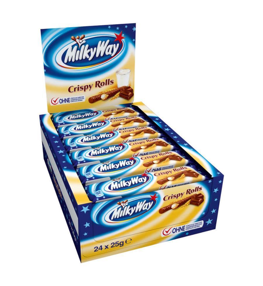24er-Box Milky Way Crispy Rolls - TAILLES UNIQUE