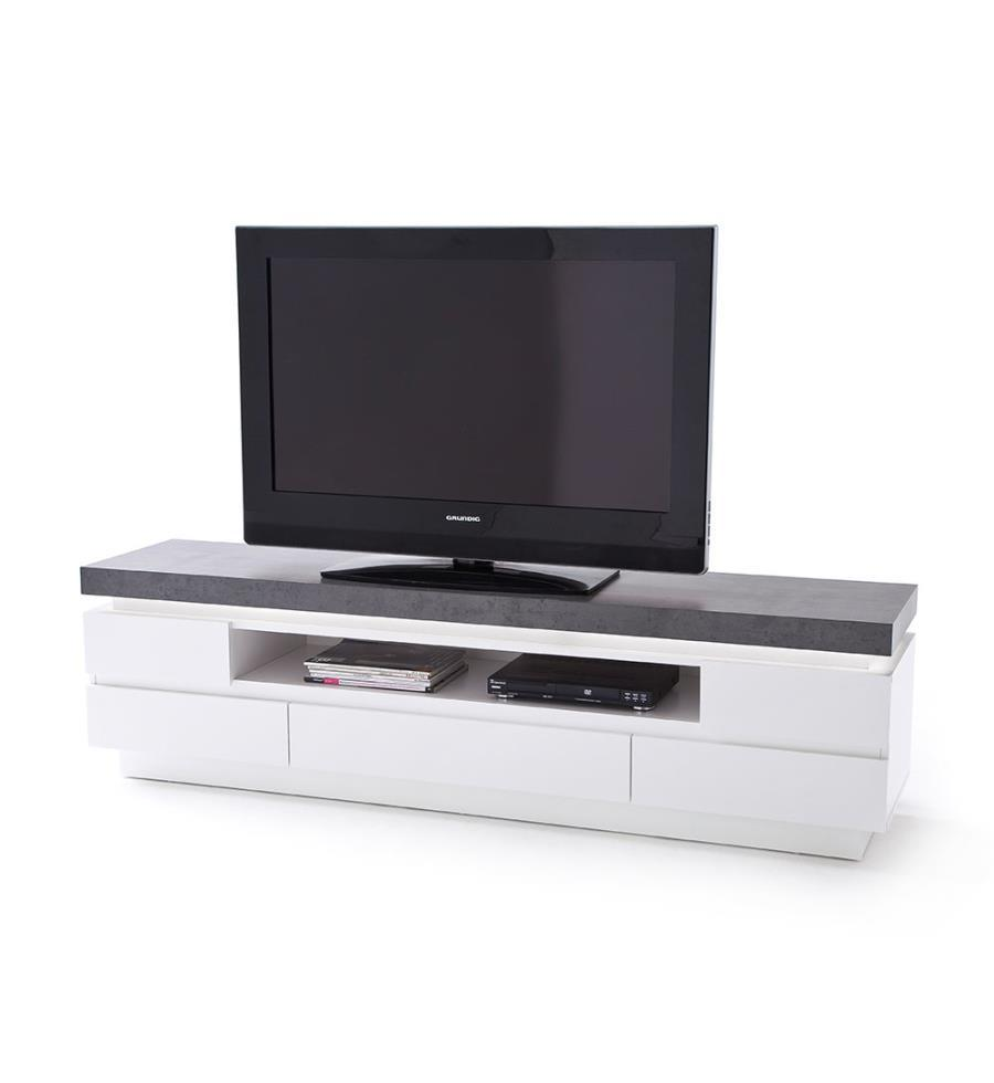 dealkiosk tv m bel weiss und grau. Black Bedroom Furniture Sets. Home Design Ideas