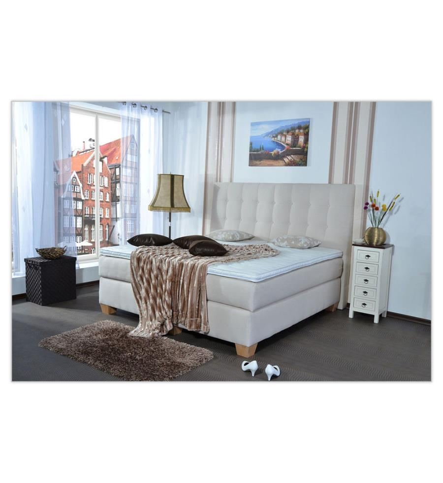 deindeal boxspringbett laax 140x200 h2. Black Bedroom Furniture Sets. Home Design Ideas